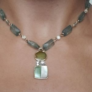 Beaded Necklace with Custom Pendant